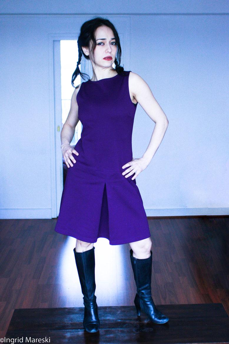 Estelle Grynszpan Profil Robe violette - Accueil